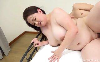 Chubby Asian Sakuragi Junko reaches an amazing orgasm with a dude