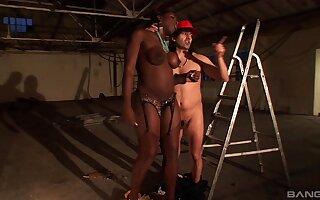 Interracial fucking between a white dude and fat ass Melvina Raquel