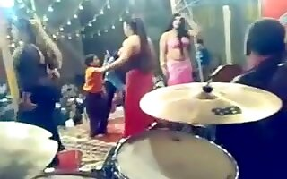 Sensual belly-dancers get caught on my hidden cam at a party
