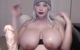 Empty your nut under the boobs of Chanel Frost