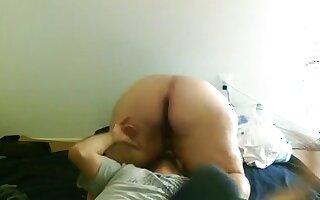 Eating big beautiful woman a-hole