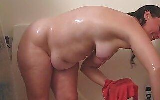 Rachel in the shower