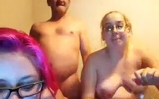 unsightly fat daughters double-oral sex not their plump dad