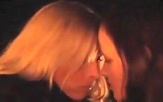 My buxom lesbian girlfriend loves it when I tongue fuck her wet snatch