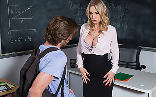 docent Rachael Cavalli gives her student a sure parting fuck
