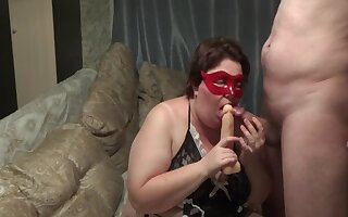 Russian Amateur Bbw Positively b in any event Dildo While Get Fucked