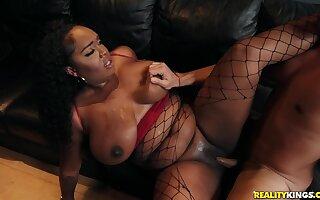 Studio Sweetheart: interracial with Ryan Driller and curvy ebony ma Layton Benton - massive gloomy boobs