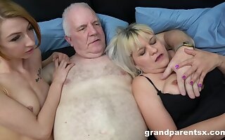 Old cadger fucks his vituperative wife and a skinny younger hooker. HD