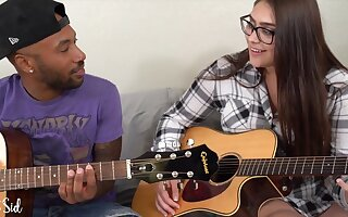 Big Titted Nerdy Cookie with their way Black Boyfriend - amateur interracial hardcore