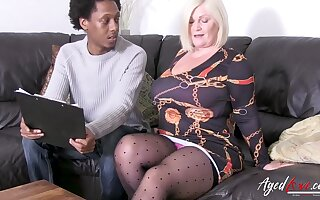 Crazy hot british lady seduced black guy and was suppositional be advisable for hardcore ride