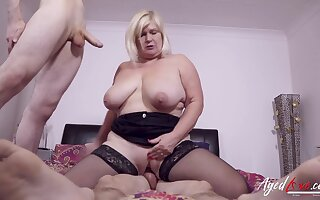 Two lickerish studs got some hardcore inculcation play for busty british of age lady