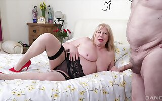 Chubby lay get hitched Trisha nigh stockings gets fucked by her lover