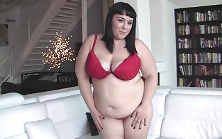 Chubby brunette all over heavy interior sucking a dick in POV - Alexxxis Allure
